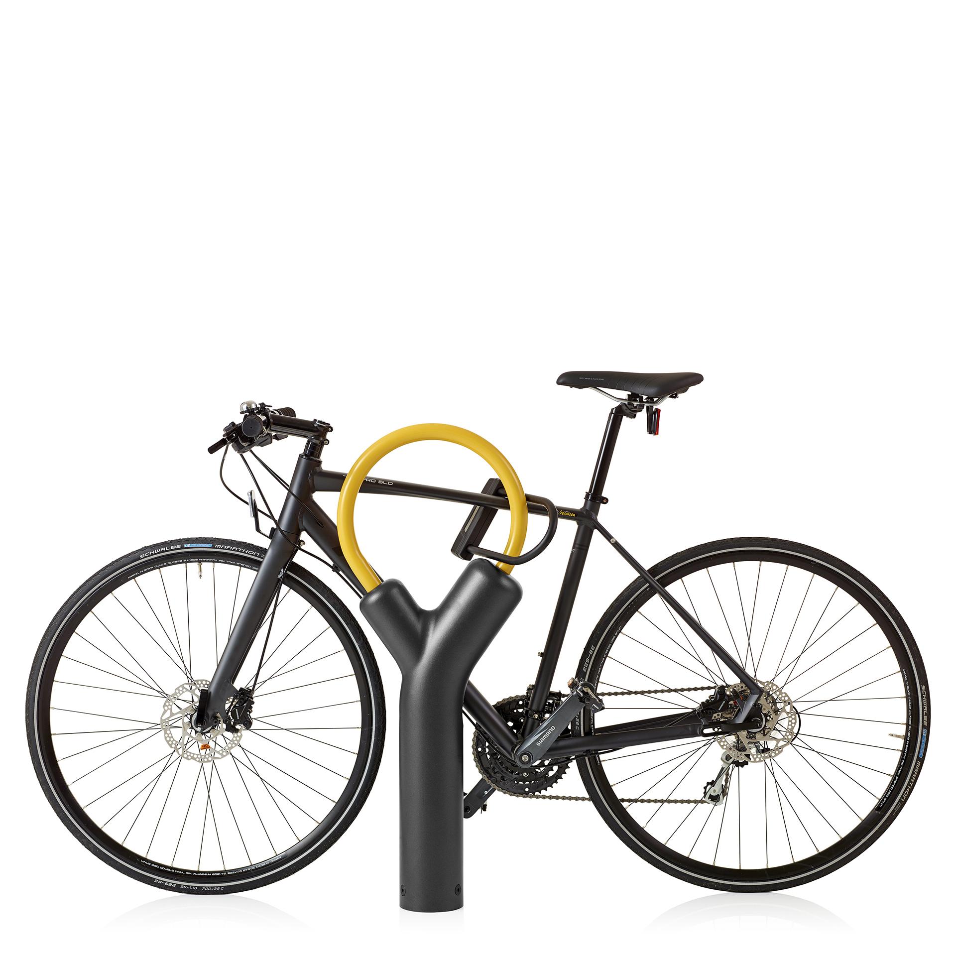 Fogdarp fietsbeugel geel met zwart