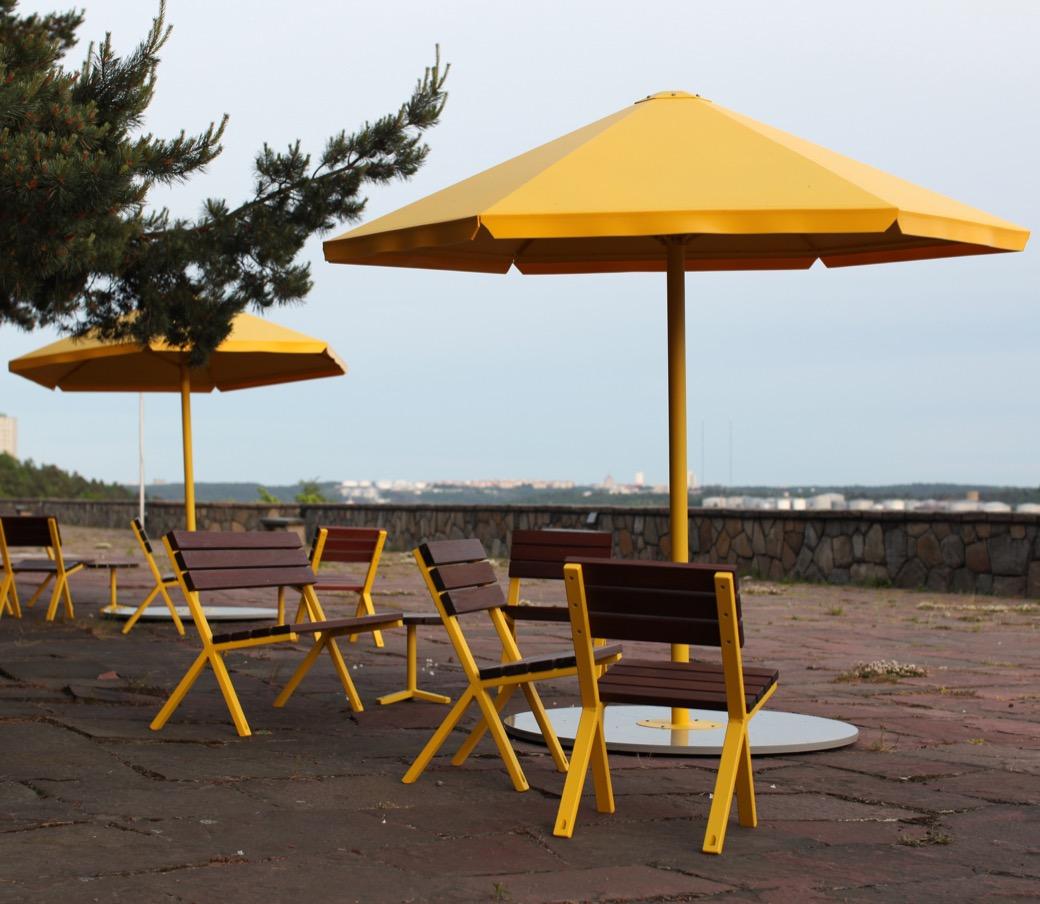 Four Seasons parasol beschermt tegen regen