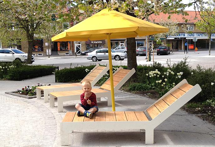 Four Seasons parasol voor parken en pleinen