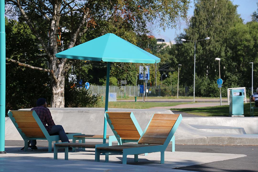 Four Seasons parasol voor bescherming tegen de zon