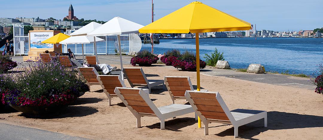 Four Seasons parasol geschikt voor strandjes