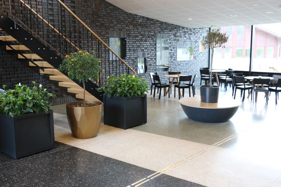 Frame plantenbak voor een zakelijke binnenruimte