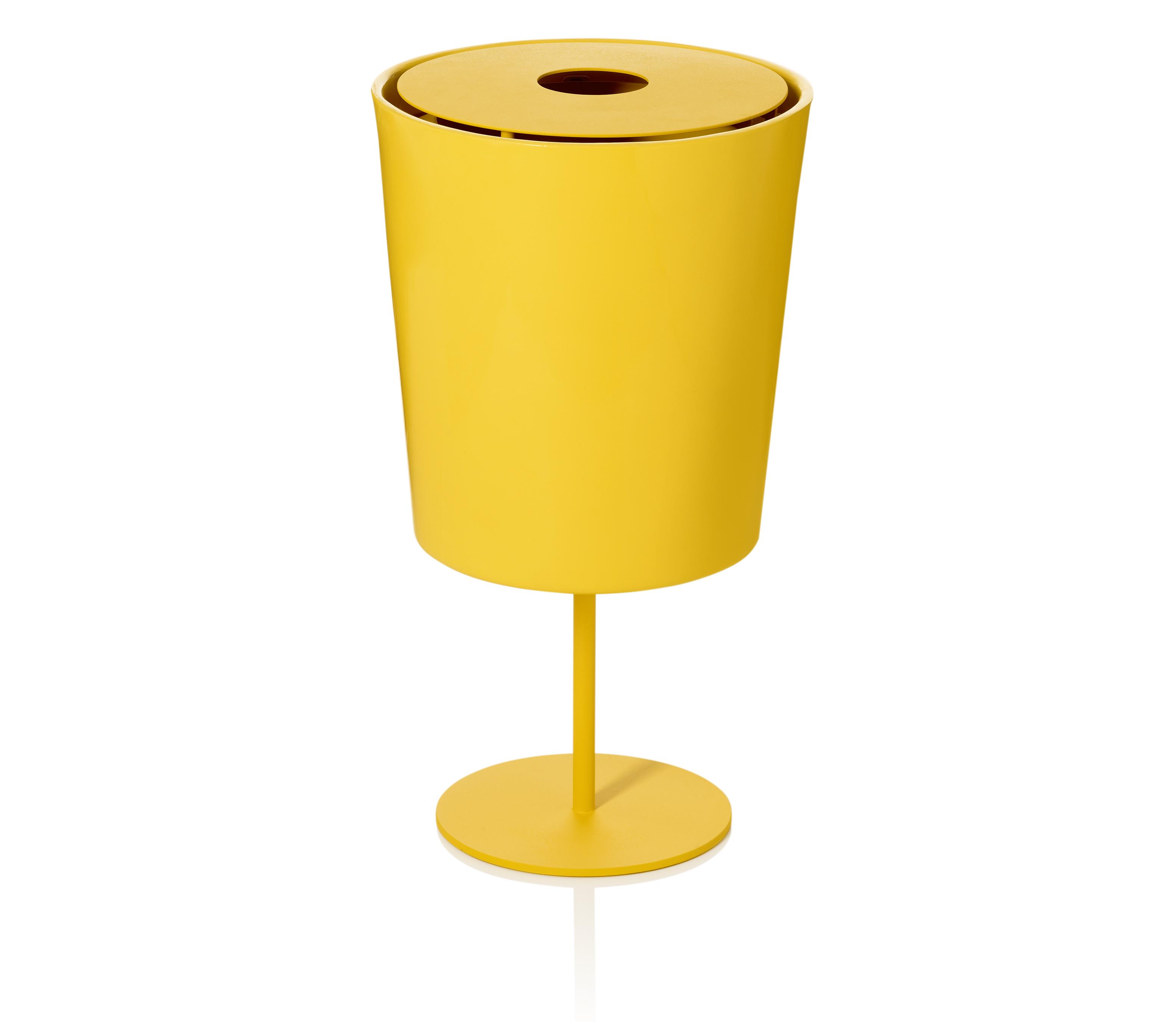 Hinken 40 afvalbak in opvallende kleur geel