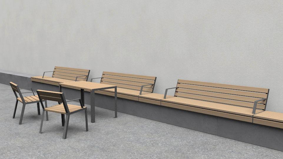 Hop Hop tafel -  tafel voor de openbare binnen- en buitenruimte