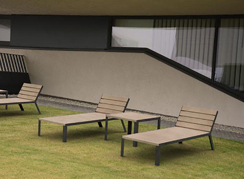 Hop Hop tafel als bijzettafel voor in de openbare binnen- en buitenruimte