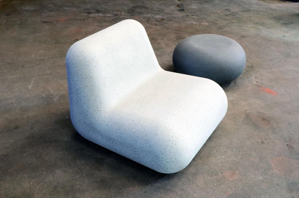 IO zitelement is gemaakt van massief beton