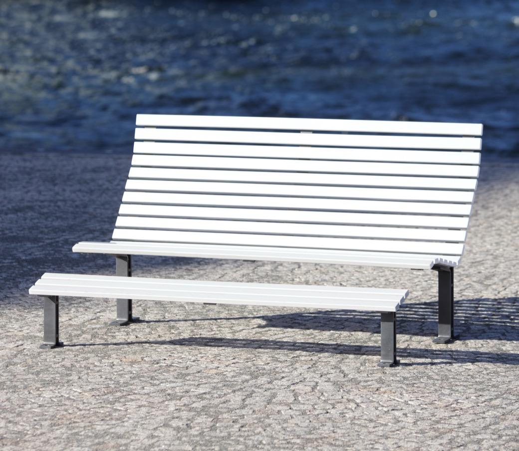Kajen Loungebank verkrijgbaar in wit