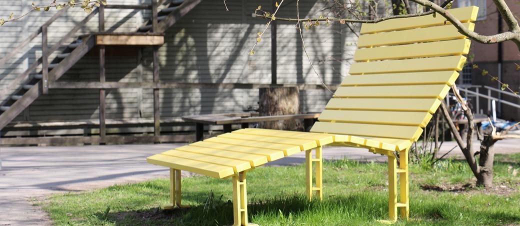 Kajen Loungebank beschikbaar in verschillende kleuren