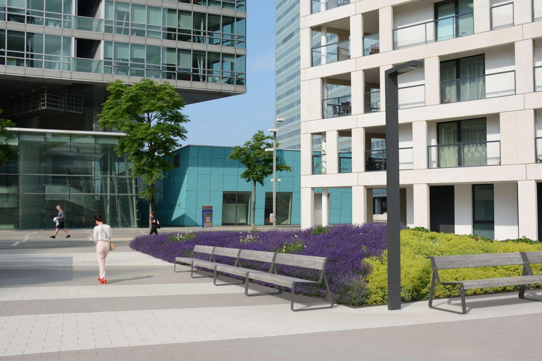 La Superfine bank geschikt voor de openbare buitenruimte