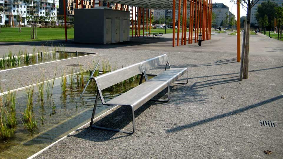 La Superfine bank te plaatsen in parken