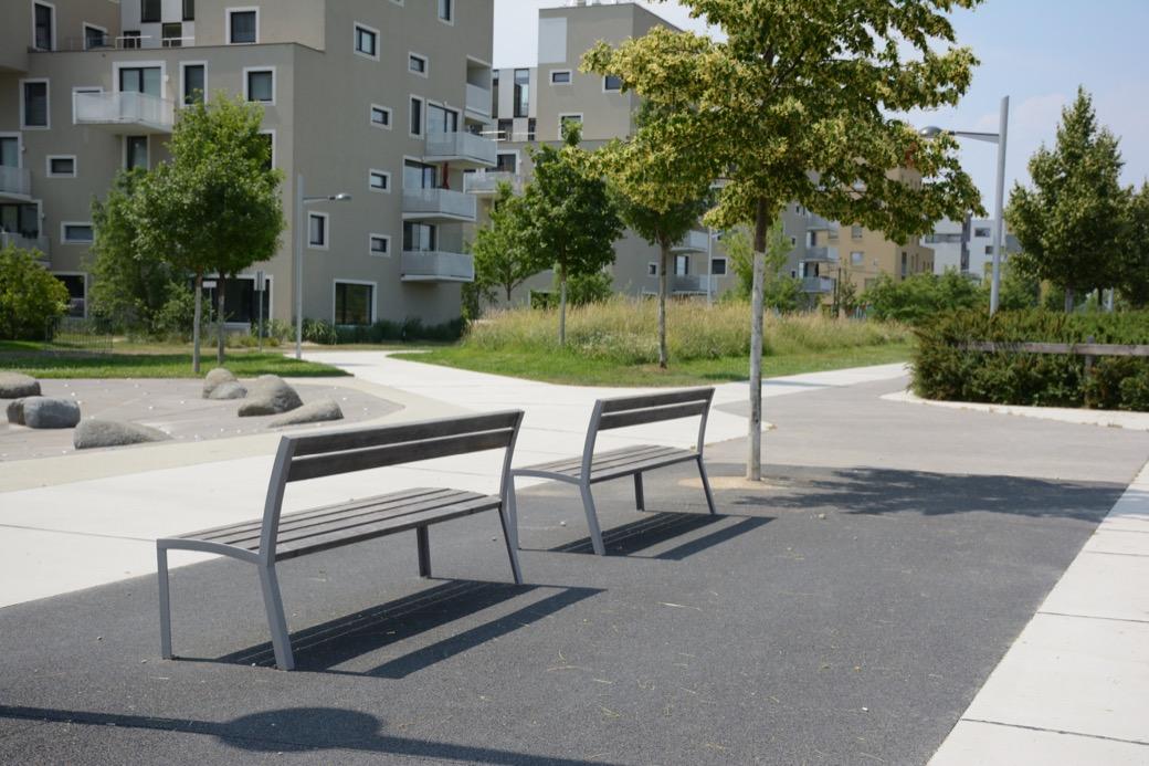 La Strada bank voor parken, pleinen, winkelcentra en kantoren of flats