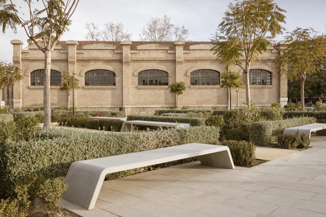 Mimetic bank beton stenen bank voor openbare ruimte