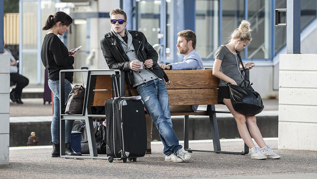 Lean bank is uitermate geschikt voor op de luchthaven of het station