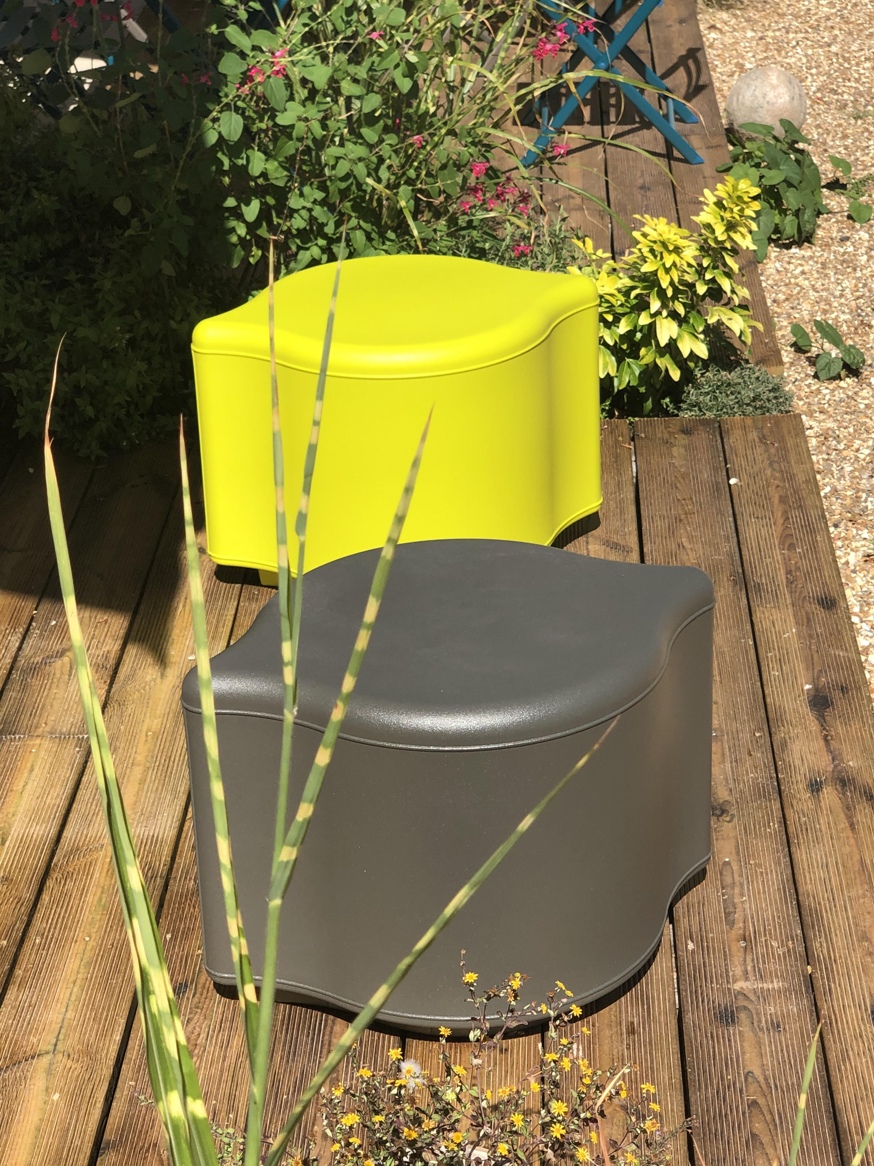 Limone zitelement en plantenbak - UV-bestendig en kleurvast