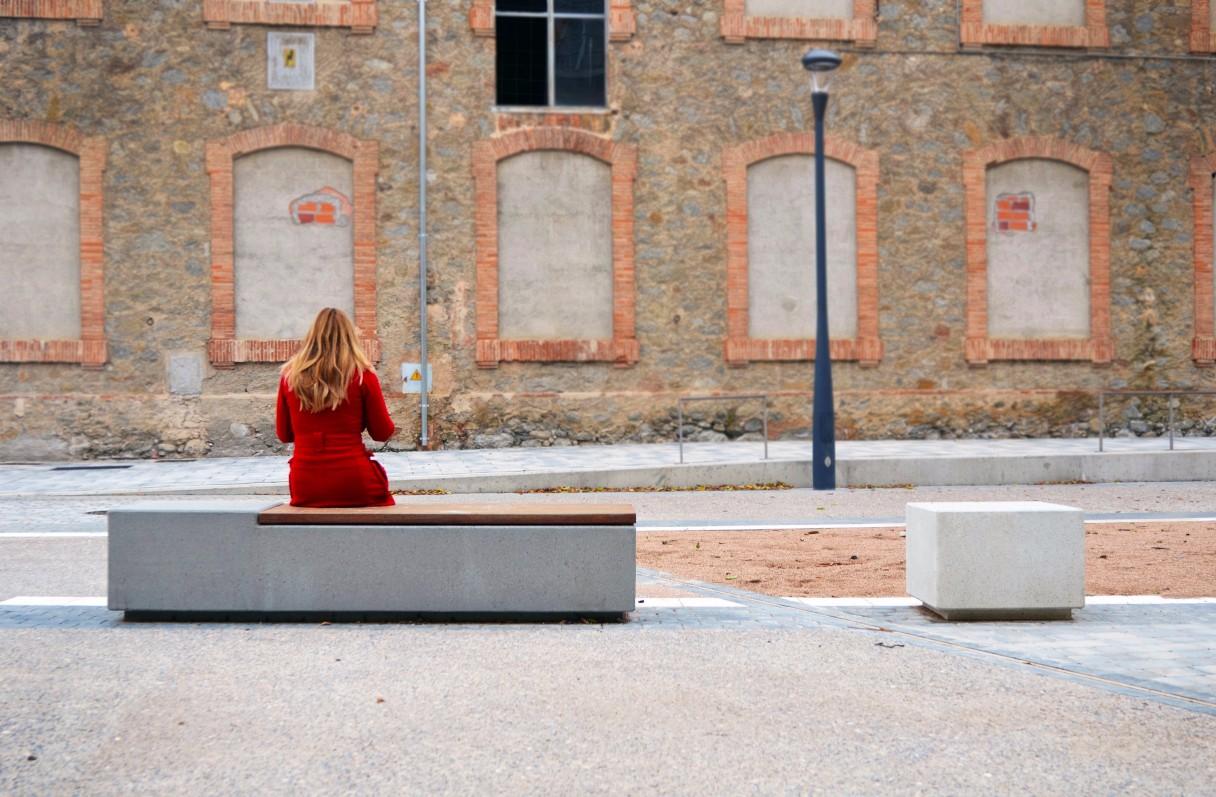 Log bank voor openbare pleinen en parken