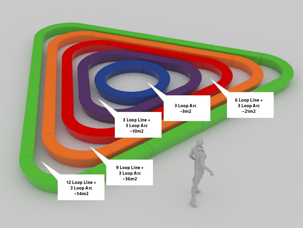 Loop zandbak in verschillende maten en opvallende kleuren
