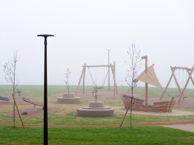 Loop Bank Rond met Rugleuning voor speelse omgeving