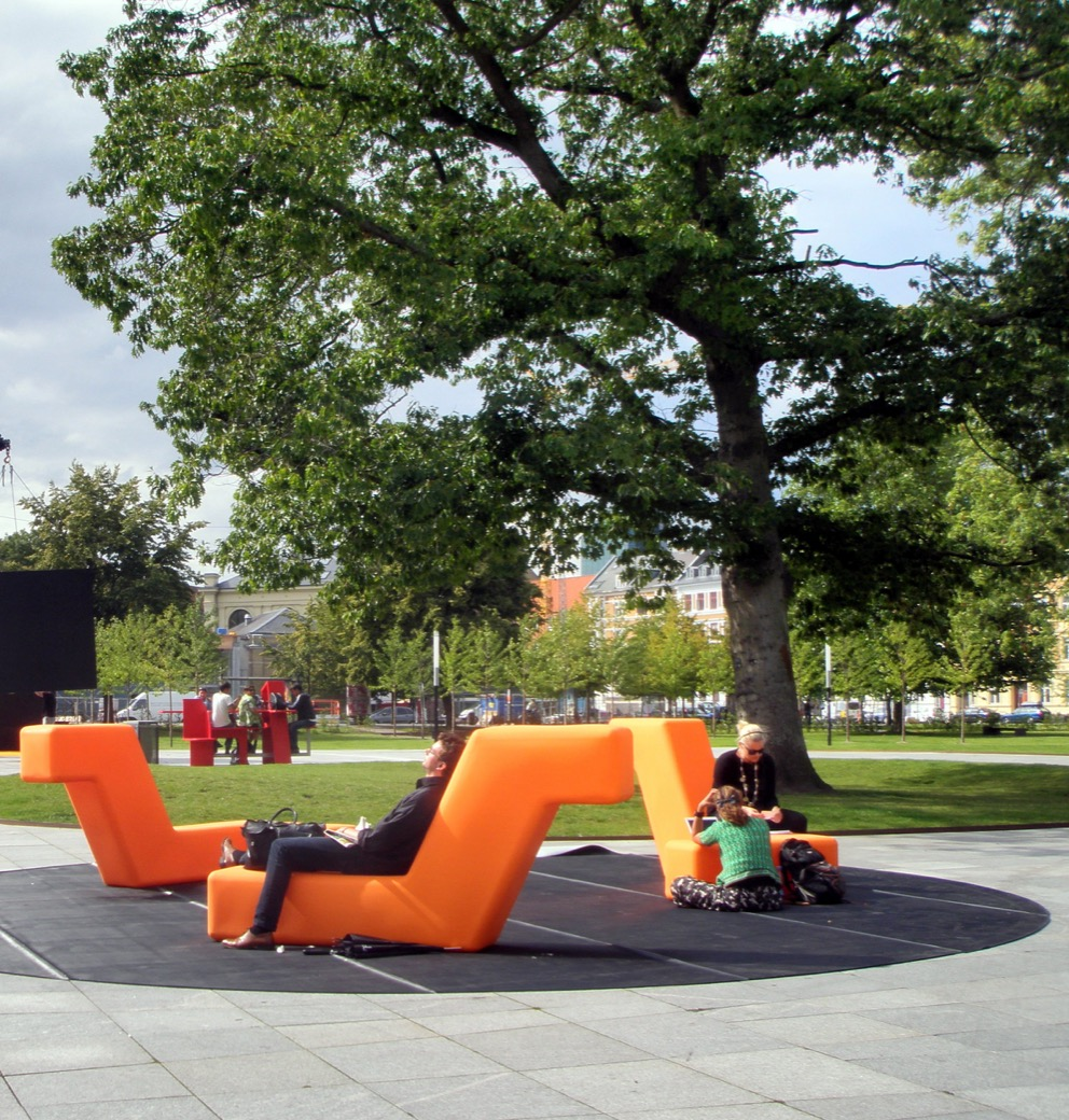 Loop Boa Zitelement voor parken en openbare buitenruimtes