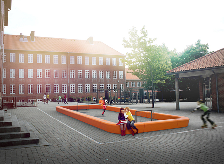 Loop Playfield Rand Sportveld voor de openbare ruimte