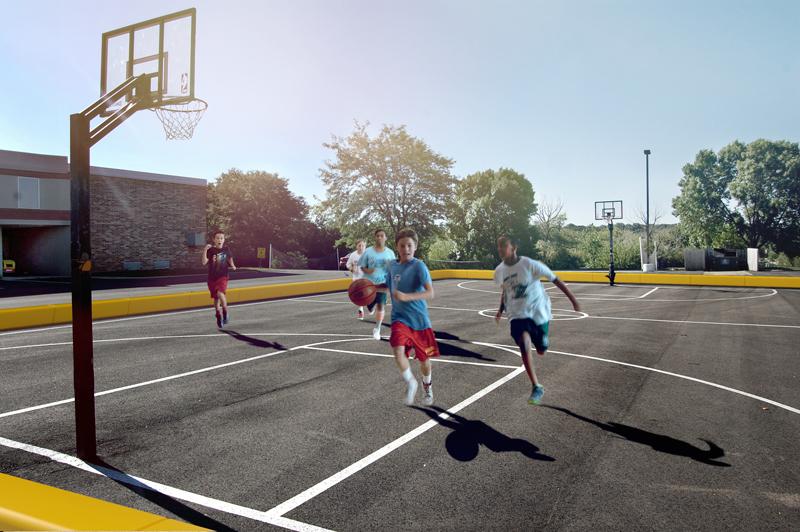 Loop Playfield Rand Sportveld voor scholen en sportclubs