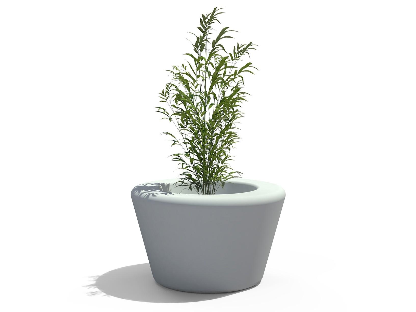 Loop cone plantenbak wit