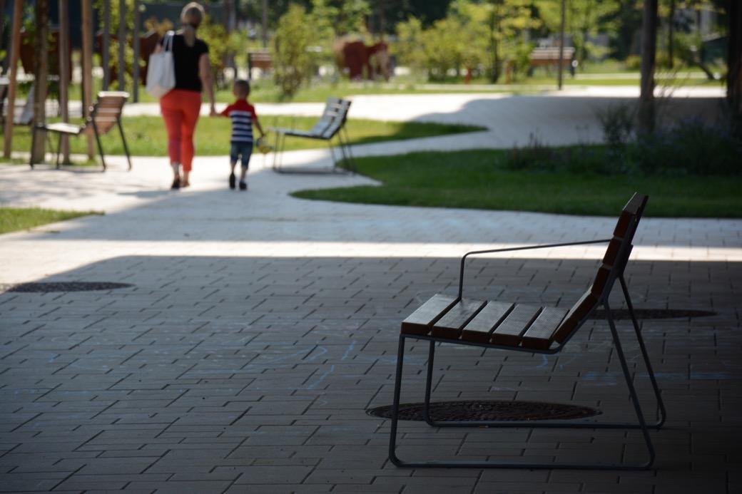 Mayfield stoel voor de openbare buitenruimte