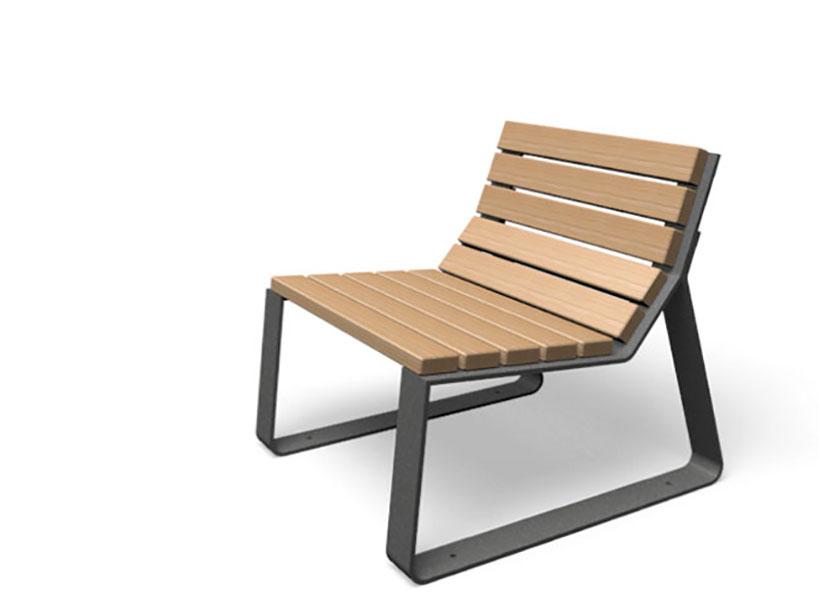 Mayfield stoel met rugleuning van houten latten