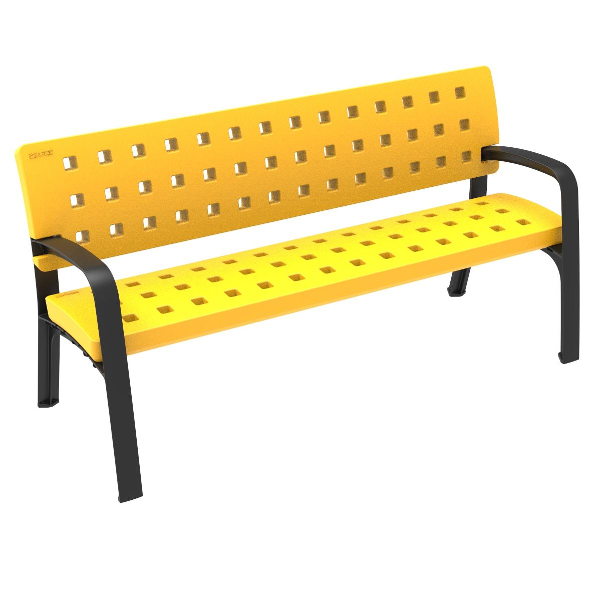 Bank Modo met speels patroon - geel
