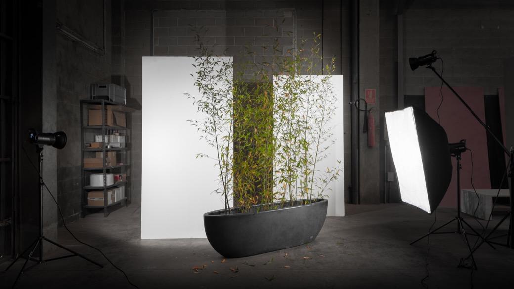 Nau plantenbak rechthoekig langwerpig betonnen bak
