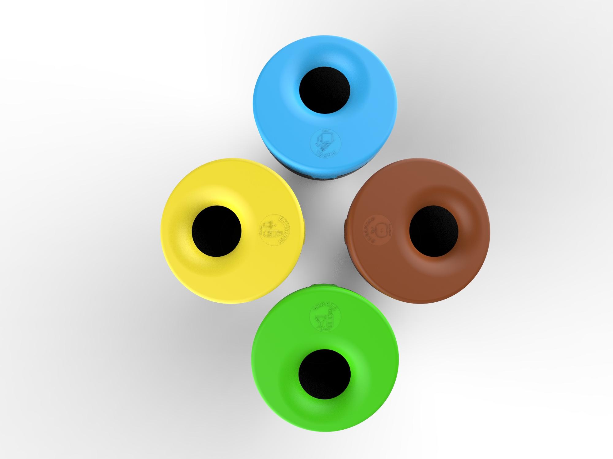 Afvalbak Alvium in 4 kleuren en te personaliseren