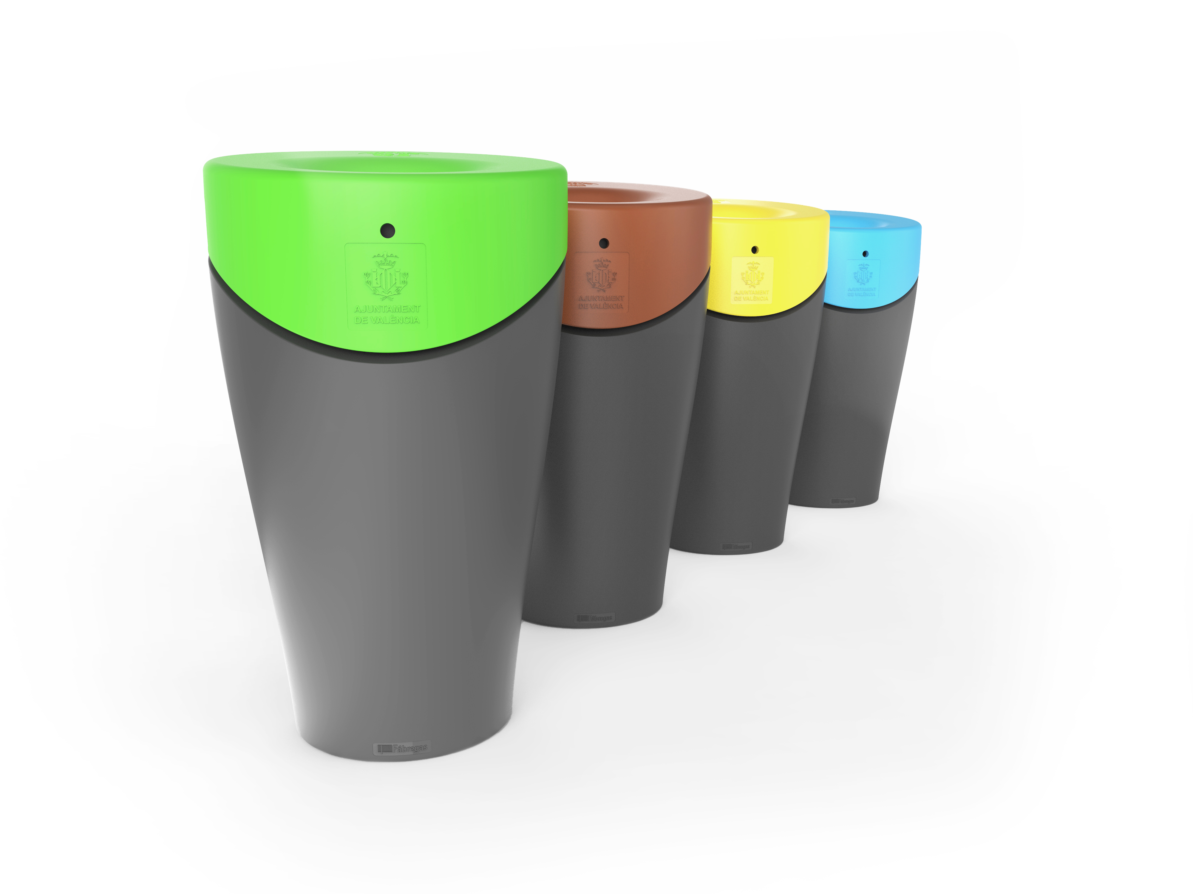 Afvalbak Alvium Urban in 4 kleuren