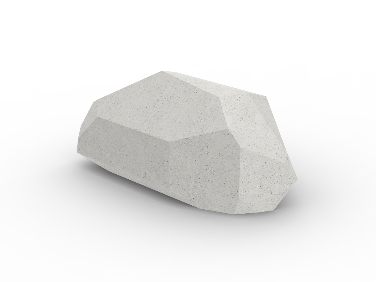 Stone zitelement beton steen om op te zitten zitkei met hoeken landschapselement zitsteen wit grijs zwart bruin naturel kleur massief beton landschap inrichting openbare ruimte betonnen straatmeubilair voor in park bos om op te spelen kinderen springen
