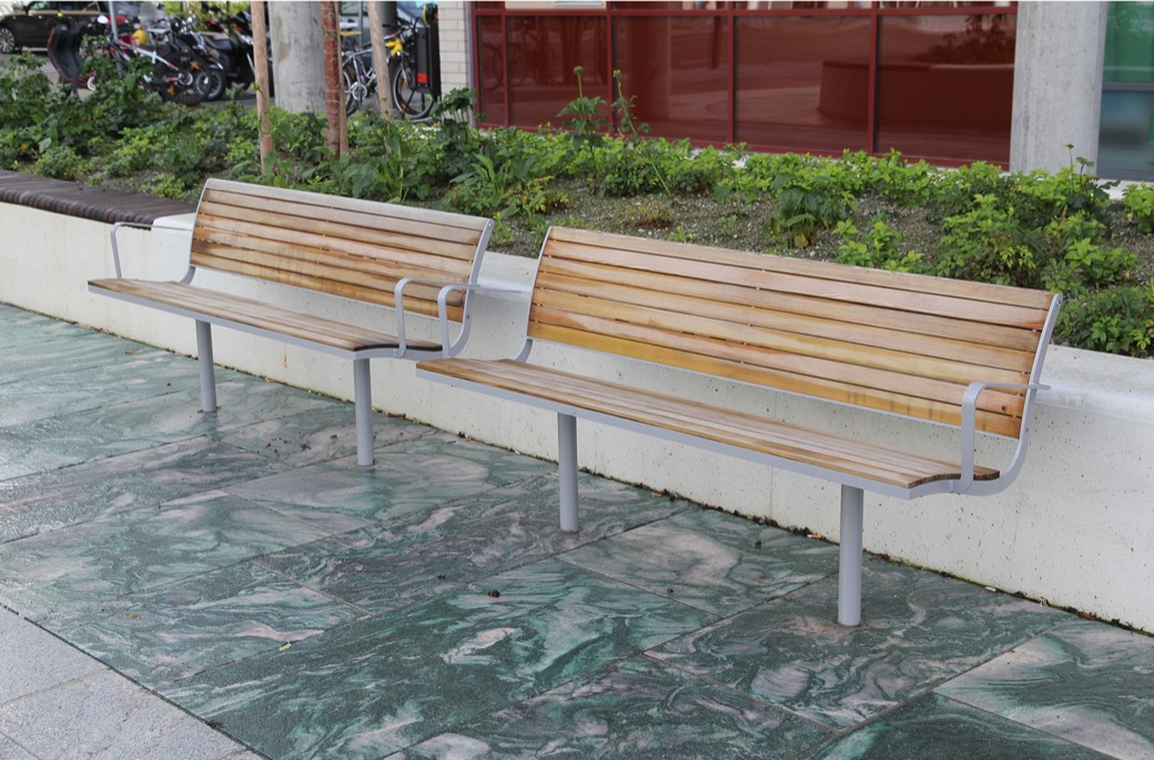 Parco bank geschikt voor parken, pleinen en openbare buitengelegenheden