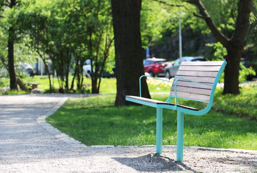 Parco bank veel toegepast binnen parken, bossen en recreatiegebieden