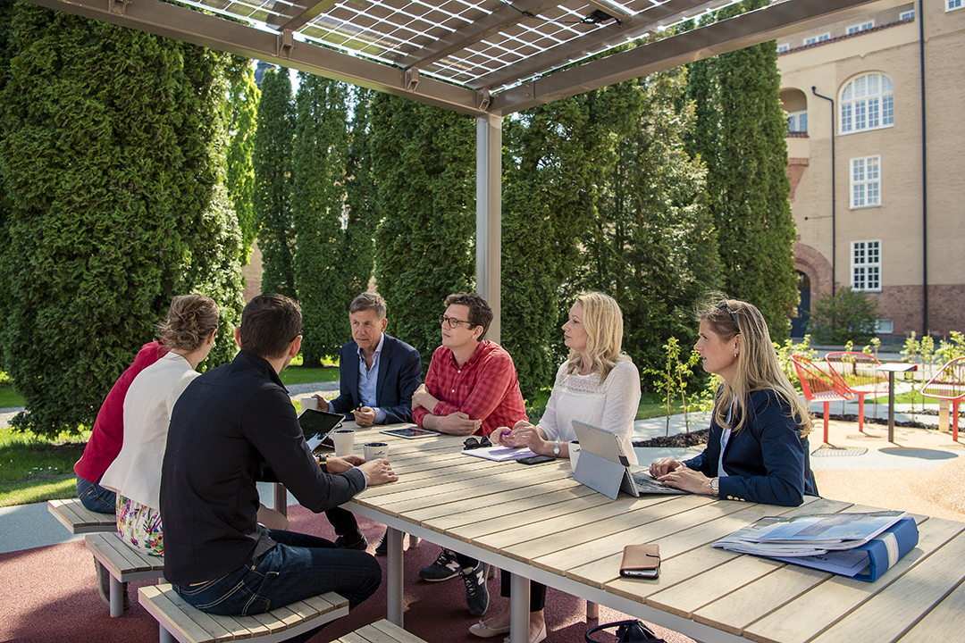 Parco tafel voor een comfortabele werkplek in de buitenlucht