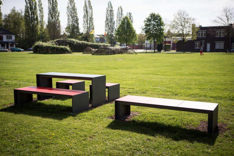 Passepartout HPL Tafel voor parken, pleinen en speeltuinen