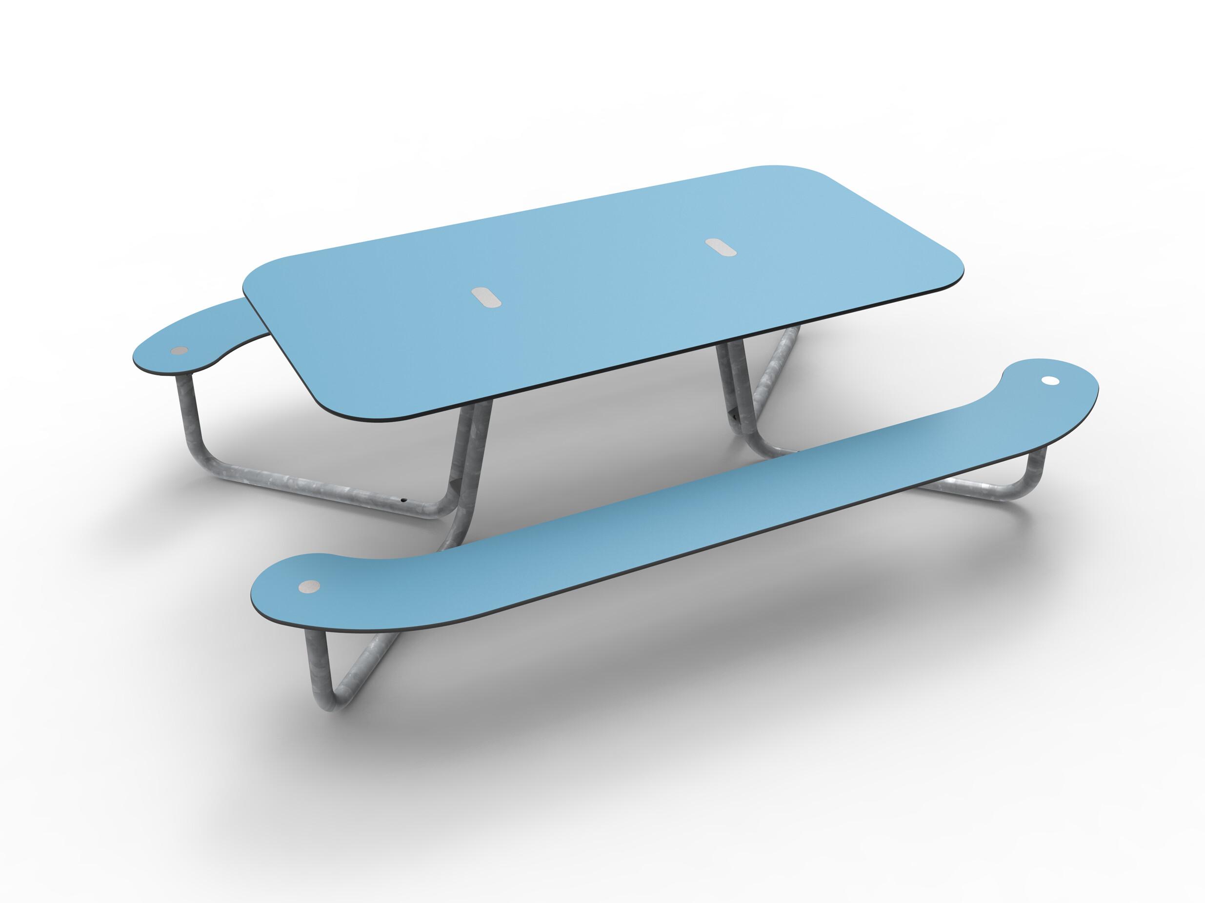 Plateau-I picknicktafel geschikt voor twee rolstoelen