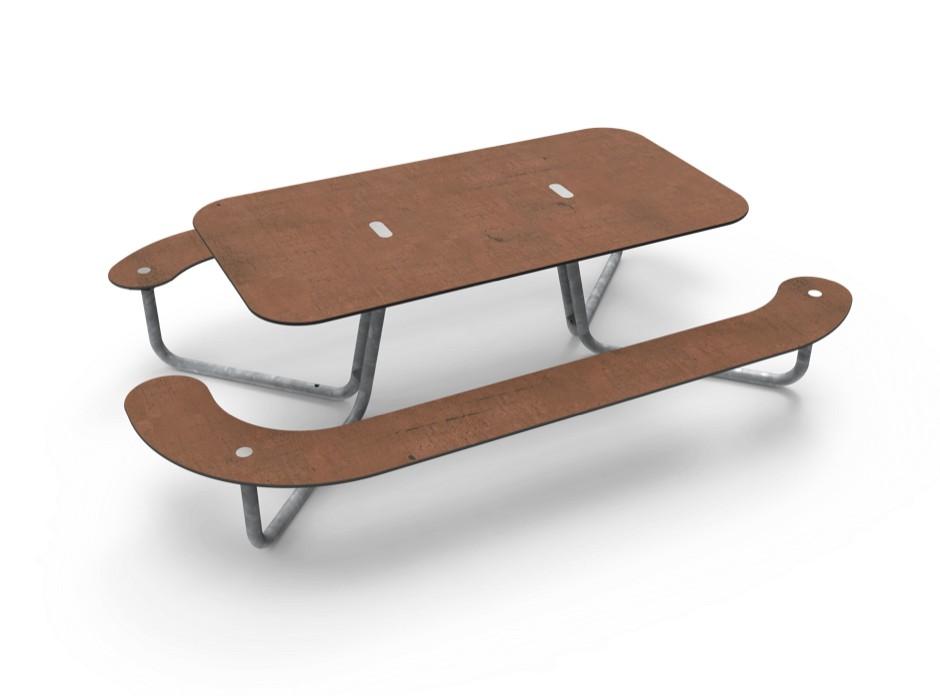 Plateau-L picknicktafel is een rolstoelvriendelijke picknicktafel
