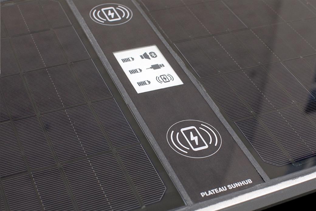Op de display van de SunHub kun je diverse apparaten aansluiten