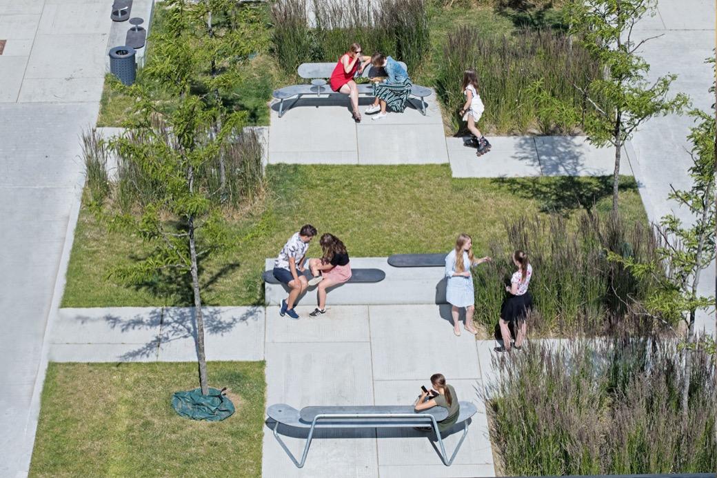 Plateau zitelement geschikt voor pleinen en parken