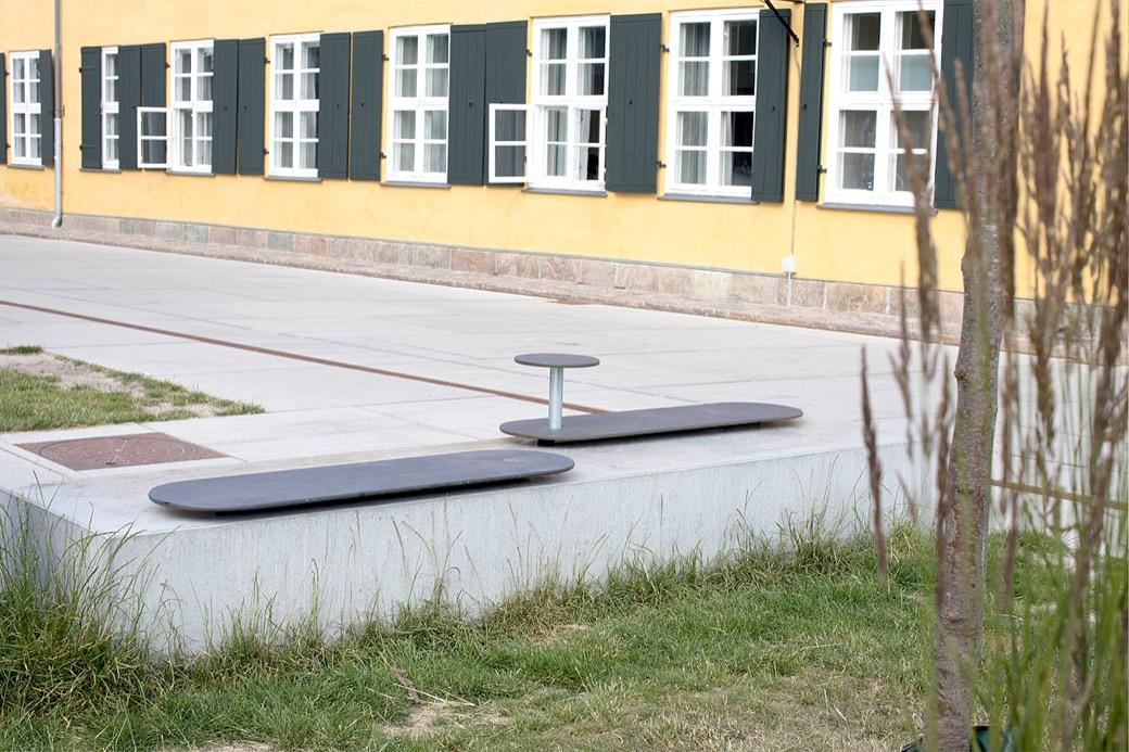 Plateau zitelement is geschikt voor gebruik in de openbare ruimte