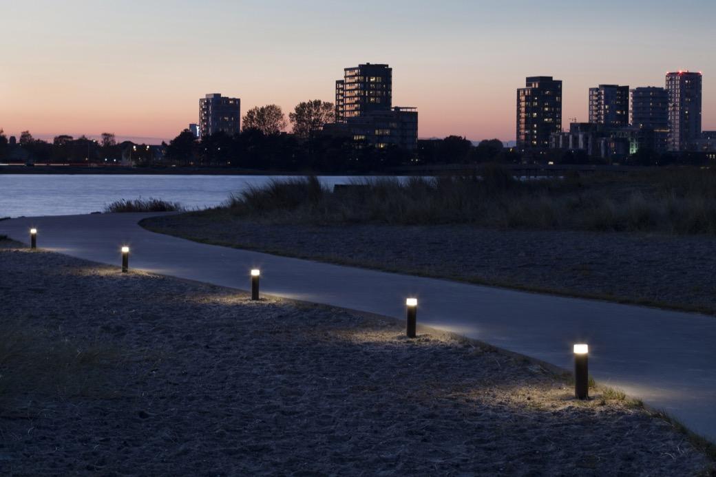 Point Sun verlichting voor het verlichten van wandelpaden, wegen