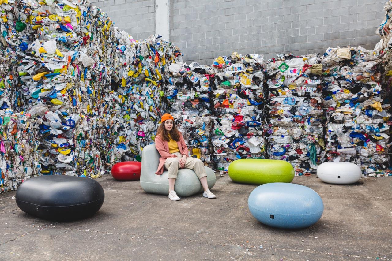 Rio zitelement gemaakt van plastic restafval