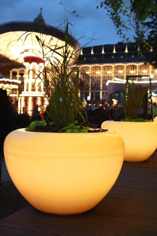 Scoop Light plantenbak met verlichting in geel
