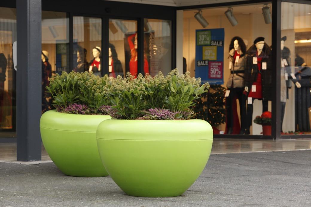 Scoop plantenbak rond geschikt voor binnen en buiten gebruik