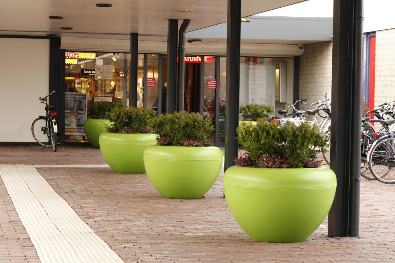 Scoop plantenbak in groen