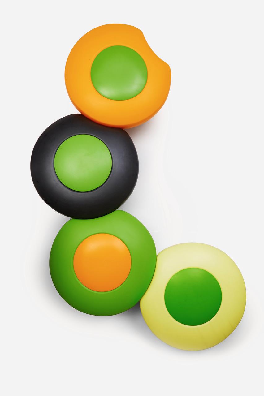 Scopi zitelement in opvallende kleuren