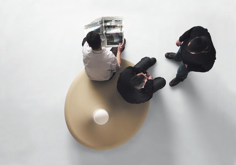 Shark lamp verlichting met zit voor meerdere personen