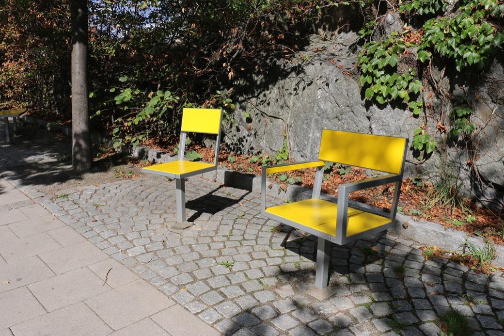 Sidewalk bank ook als stoel voor de openbare ruimte