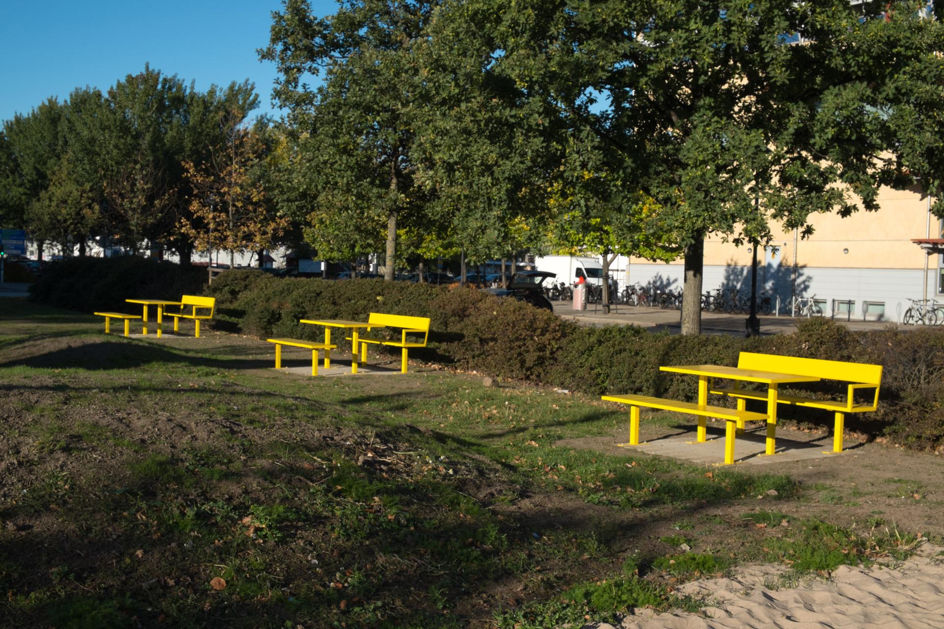 Sidewalk bank voor parken, bossen en landschappen